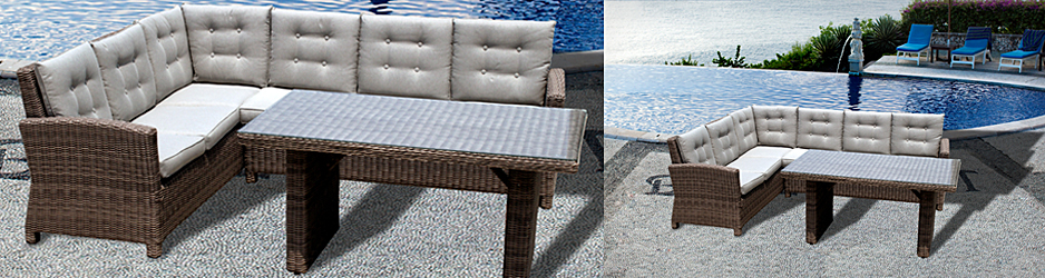 pe rattan bar set furniture outdoor modern bar furniture manufacturer