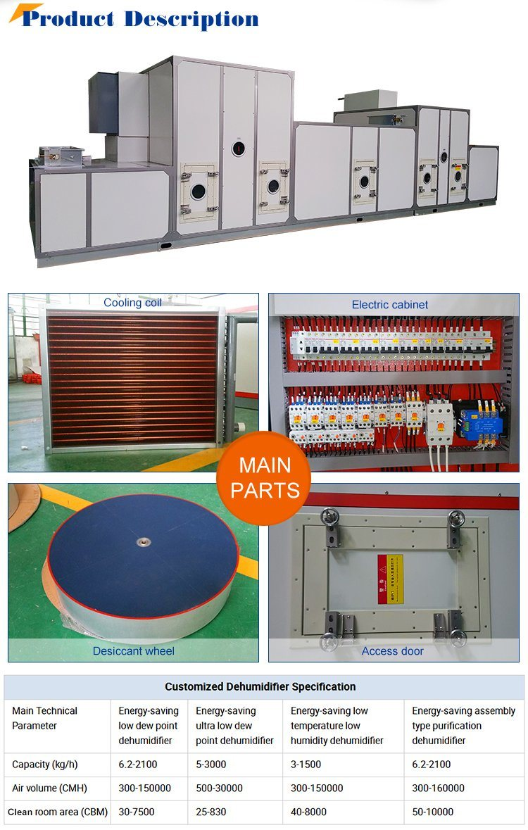 Energy Saving Low Dew Point Industrial Desiccant Dehumidifier