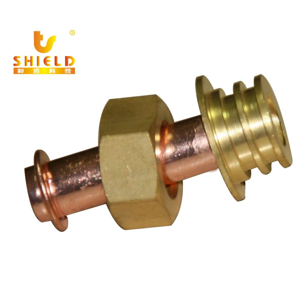 Copper Tube with Brass Hex Nuts From Pump to Steam Boiler