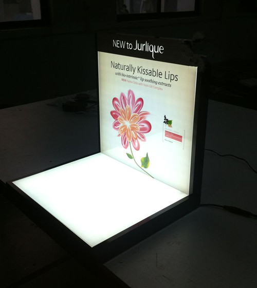 New Style Advertising Light up Display Tabletop LED Acrylic Cosmetic Display Stand