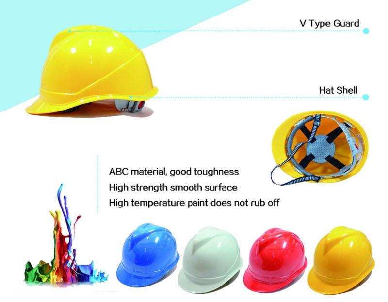CE EN397 ABS/ Construction V Type PE Safety Helmet for Sale