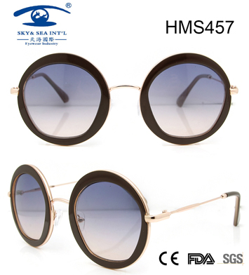Round Shape Acetate Sunglasses (HMS457)