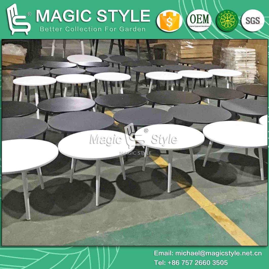 Outdoor Round Tea Table Garden Coffee Table Aluminum Tea Table Outdoor Powder Coating Table Modern Tea Table