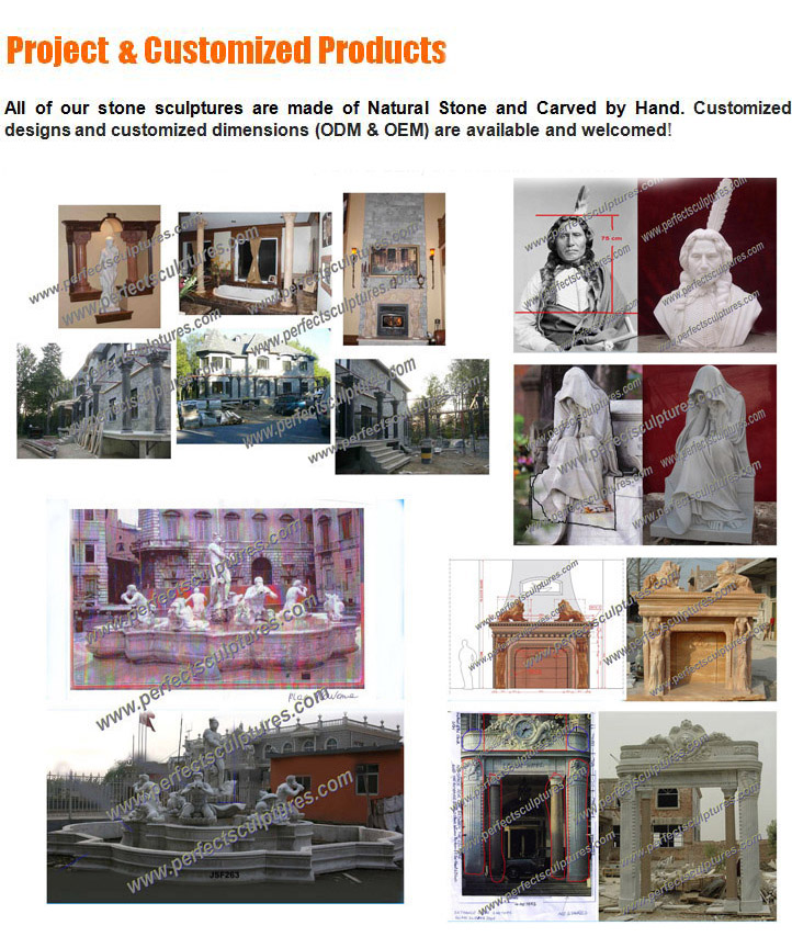 Stone Marble Carving Sculpture Statue for Garden Decoration (SY-X1250)