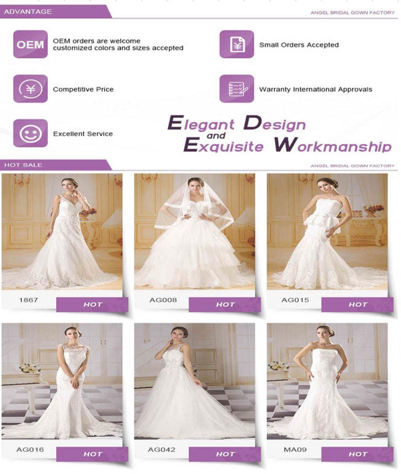Unique Scoop Neck Fashion Bridal Dress