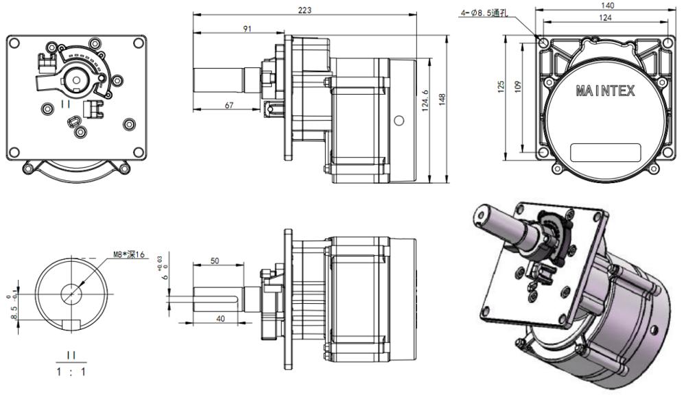 High Torquer DC Brushless Motor |Moom Barrier Motor
