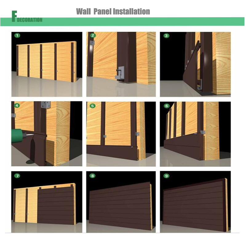 Waterproof Wood Plastic Composite Decking WPC Wall Cladding