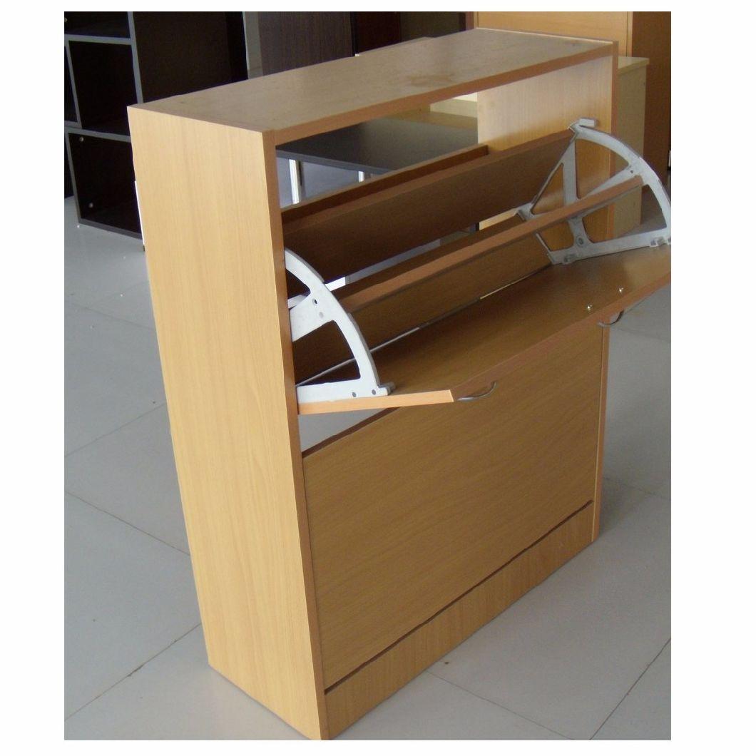 Simple 3 Drawer Shoe Storage Shoe Rack Wooden Shoe Cabinet