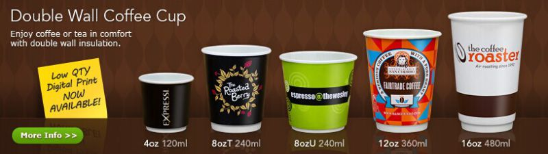 Disposable Medium Double Wall Insulated Coffee Paper Cup