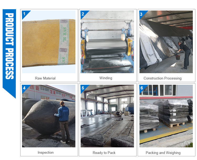 Natural Rubber Floating Pontoon High Quality Ship Lifting Airbags Made in China