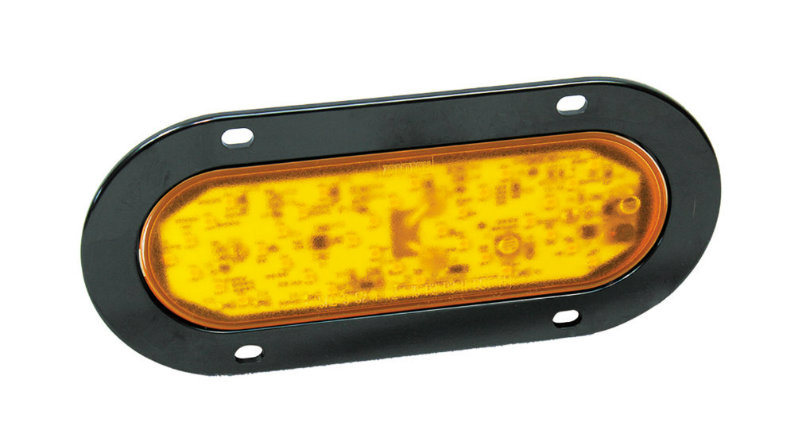 Waterproof Oval 6'' LED Amber Indicator Arrow Turn Light for Truck Trailer with DOT