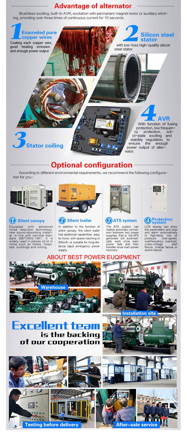 50kw Ricardo Series Engine Electirc Power Diesel Generator Set