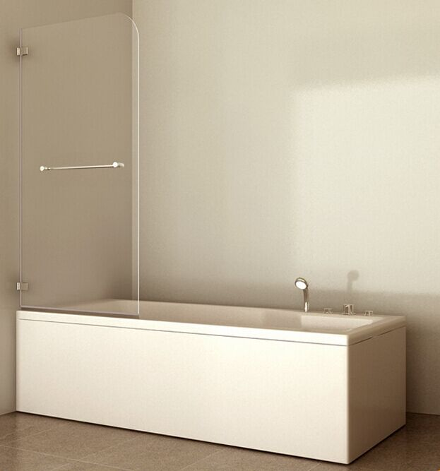 Glass Bath Screen with Simple Bathtub (ADL-8601)