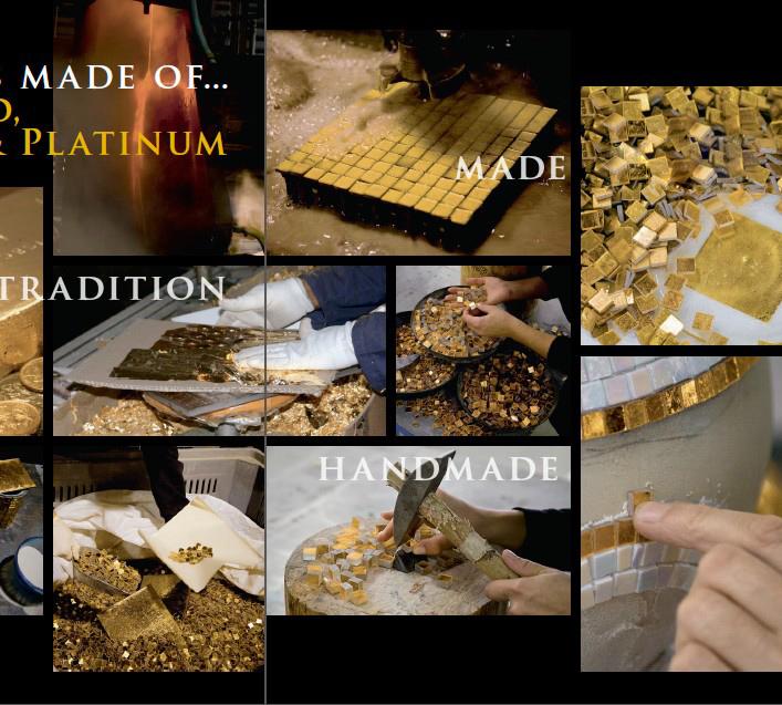 Goldcloud Glass Mosaic Bisazza Mosaic Tile