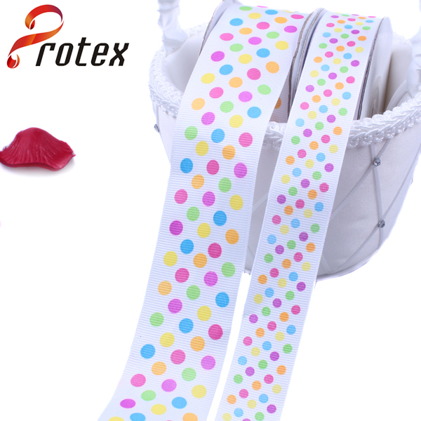 Grosgrain Printing Dots Ribbon