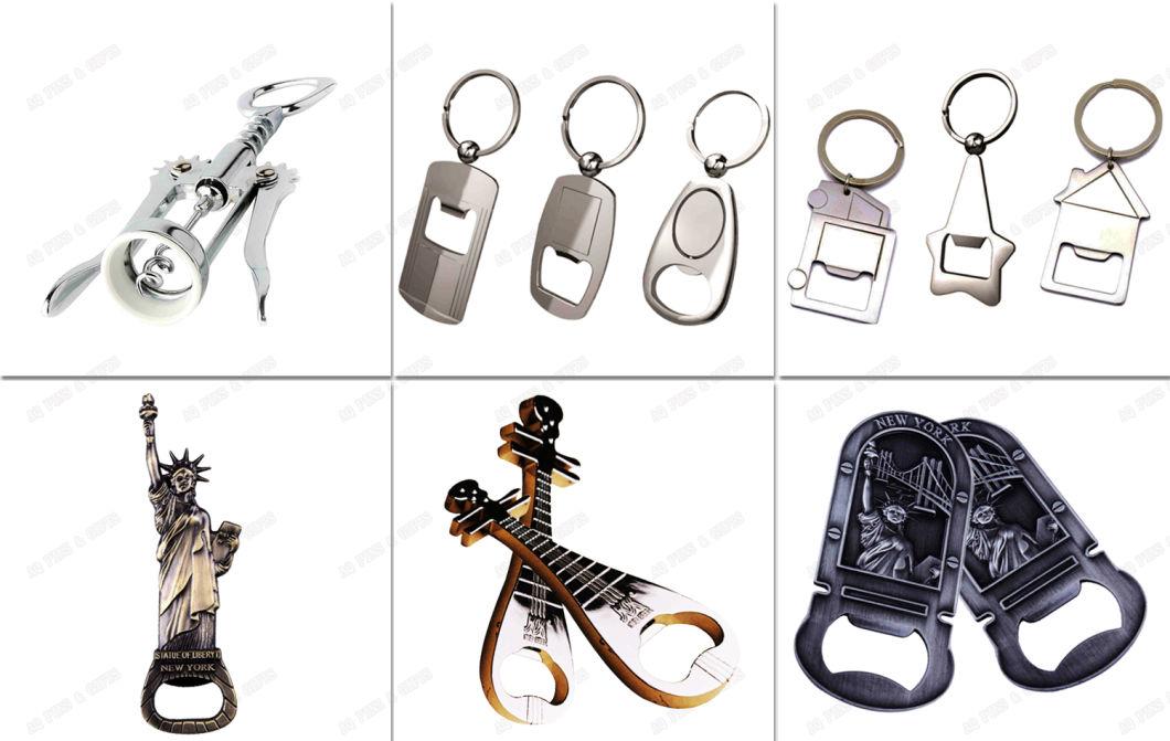 Custom Aluminum Metal Craft Metal Bottle Opener in Special Shape (002)