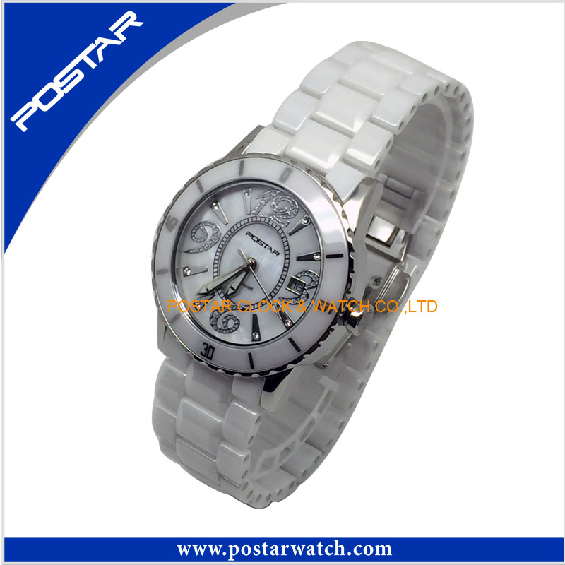 All Black Unisex Ceramic Quartz Watch Wrist Watch