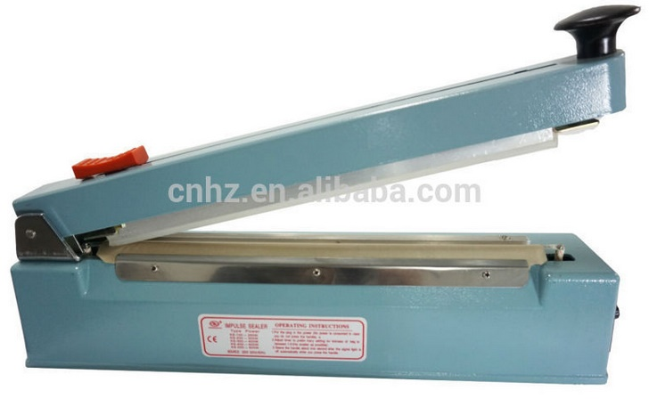 Aluminum Body Hand Impulse Heat Sealing Machine with Middle Cutter