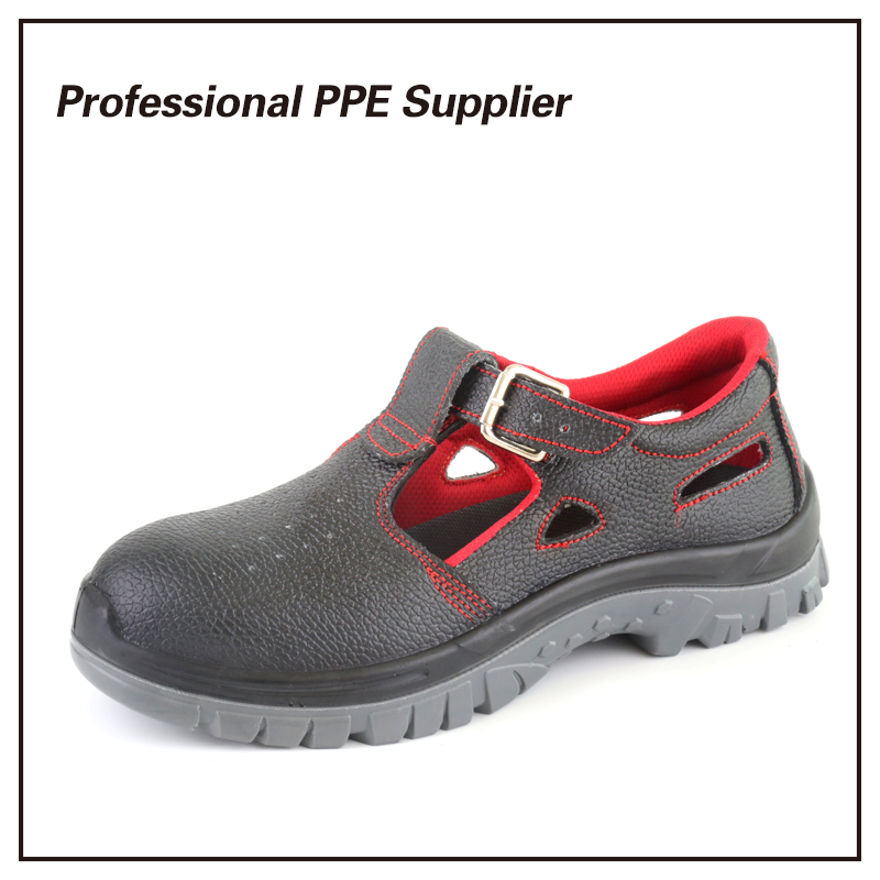 Genuine Leather Cheap Breathable Summer Work Shoe
