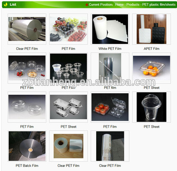 Transparent Pet Clear Film for Food Packaging