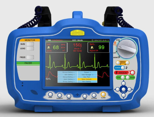 Dm7000 Portable Defibrillator Monitor with High Quality, Alternative Pattern for Emergency Equipment