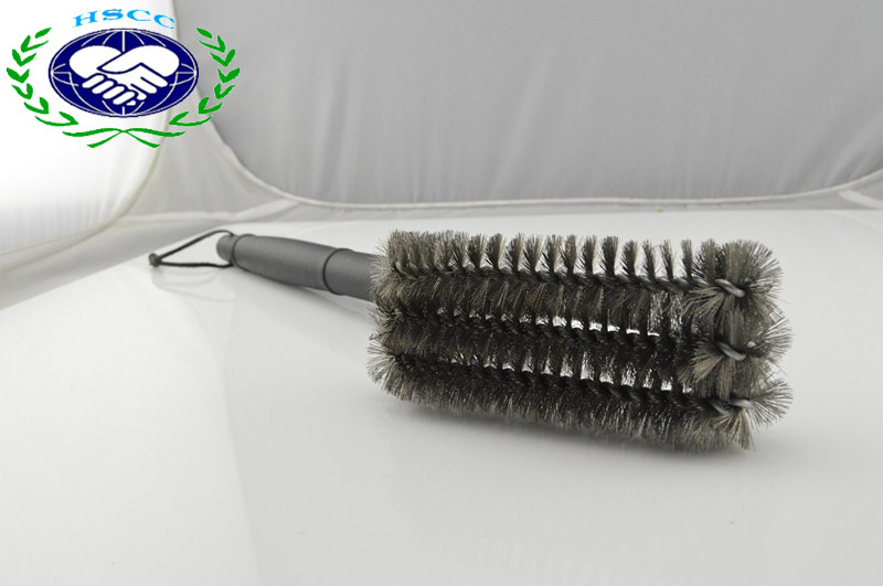 Hot Selling Stainless Steel 3-Sided BBQ Grill Cleaning Brush for Outdoor BBQ with High Quality, Grill Brush