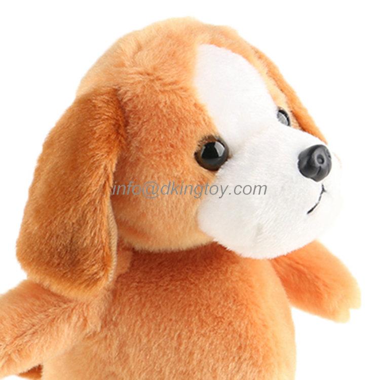 Cute Electronic Plush Dog Soft Stuffed Animal Toys Can Customized