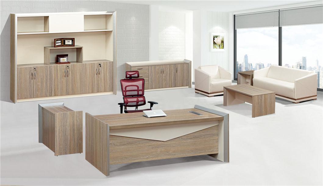 Modern Furniture Style Melamine Computer Aluminium Alloy Meeting Office Table