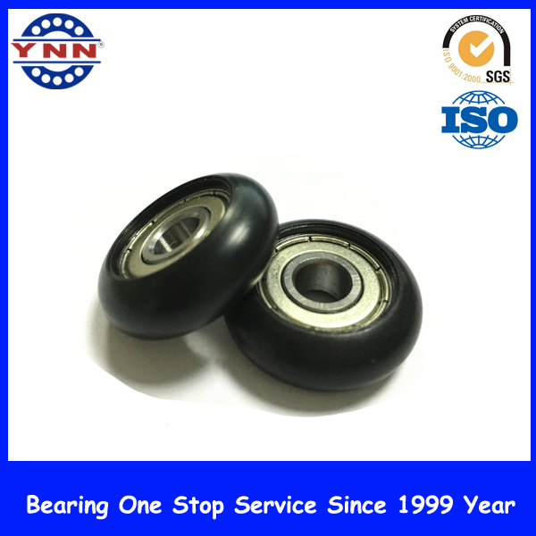Customized Plastic Coated Bearing Pully Wheel Bearing for Furniture