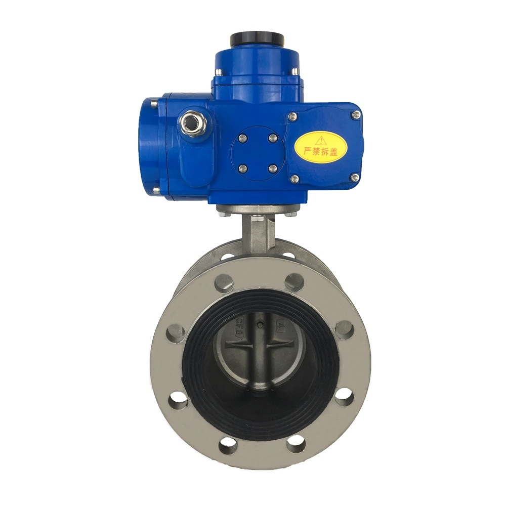6 Inch Motorized Stainless Steel Butterfly Valve