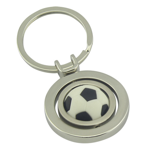 Promotional Sport Gift Zinc Alloy Football Keyring with Logo (F1193)