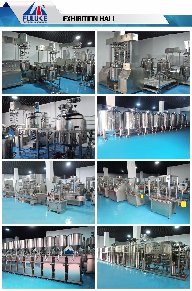 Flk Ce Automatic 10-500L Color Cosmetics Vacuum Emulsifying Machine