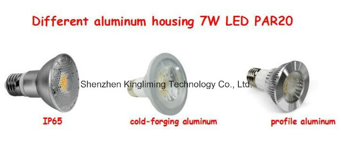 7W COB LED Spotlight Dimmable LED PAR20