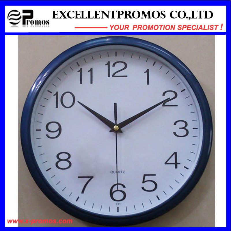 12inch 30diameter Logo Printing Round Plastic Wall Clock (EP-Item12B)