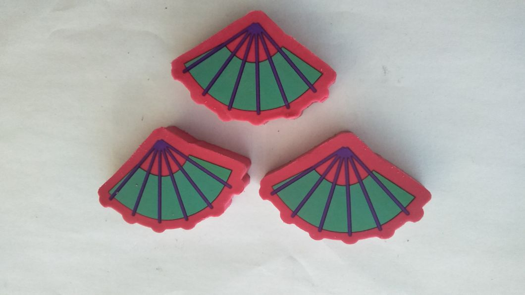Fan Shape 2D Rubber Eraser