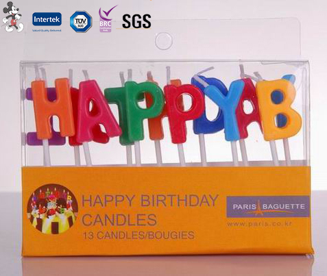 Personalized Eco-Friendly Raw Material New Style French Birthday Candle