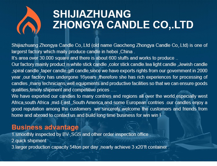 ZhongYa Factory Candles