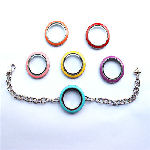 New Designs Round Glass Floating Locket Bracelet for Charms