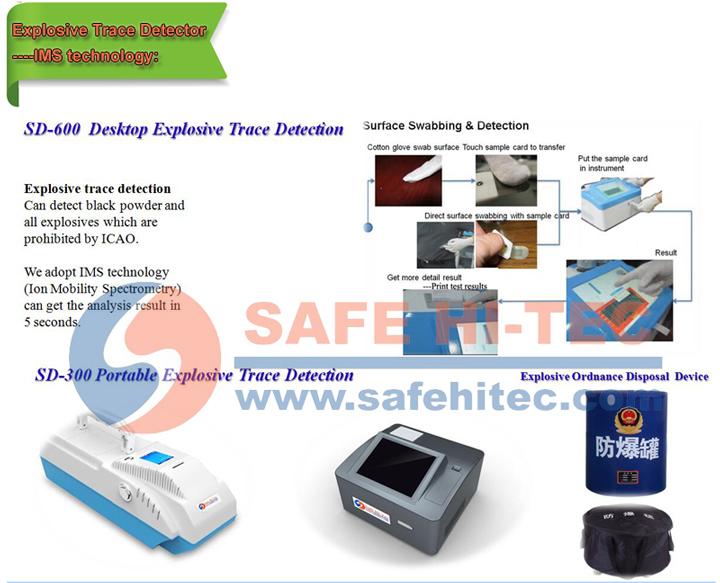 Portable Raman Explosive or Drug Detector for Border Security SD6000