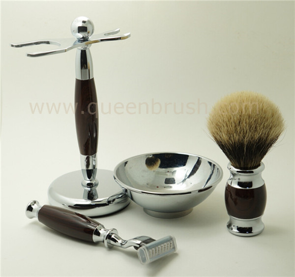 Top Quality Wholesale Shaving Brush Set with Badger Hair