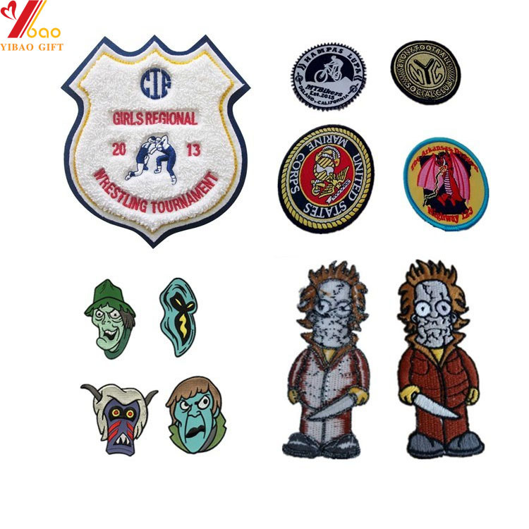 Wholesale Woven Fabric Police Embroidered Patch for Uniform (YB-e-015)