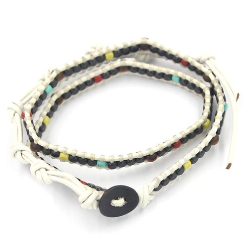 Weaving Ropes Doule and Triple Wrap Adjustable Bracelet, Wristband, Bangles