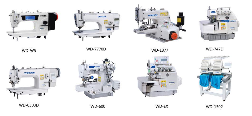 Wd-8b (WORLDEN) Single Needle Unison Feed Cylinder Bed Sewing Machine