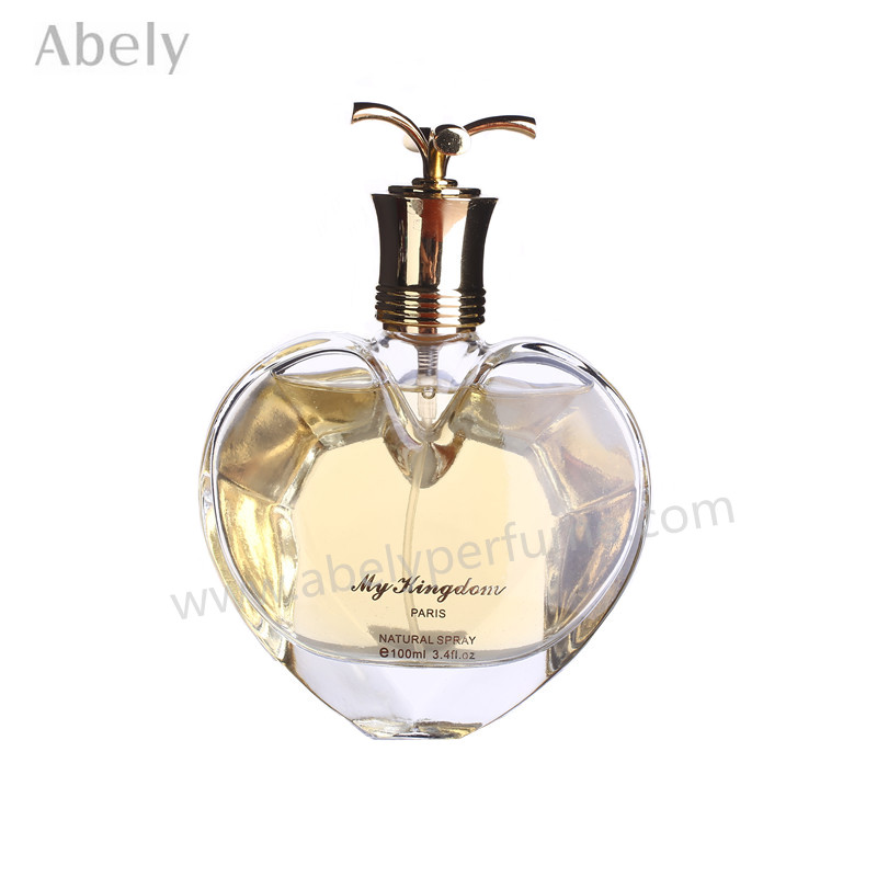 100ml Heart Shape High Quality Glass Perfume Bottle