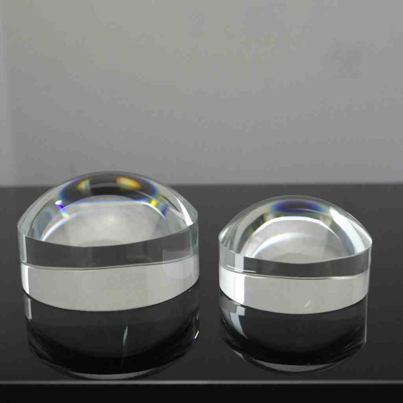 Crystal Hemisphere Magnifying Glass Decoration Convex Lens Optical Paperweight