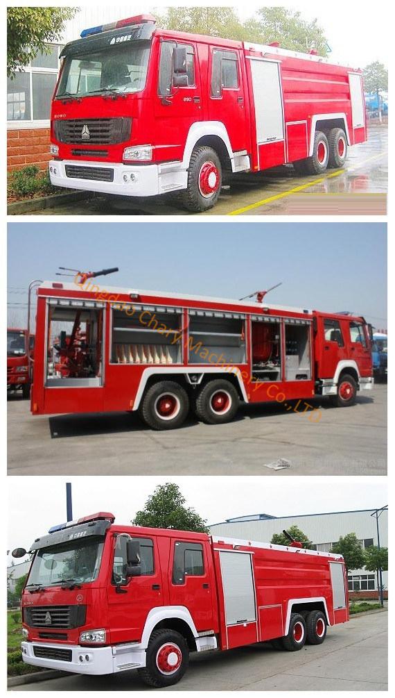 HOWO 6X4 LHD/Rhd 20000liter Water-Foam Tank Fire Fighting Truck