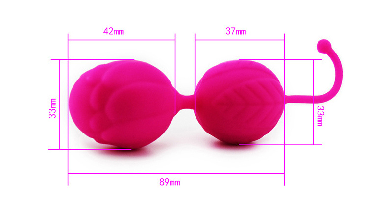 100% Silicone Kegel Balls, Smart Love Ball for Vaginal Tight Exercise Machine Vibrators, Ben Wa Balls of Sex Toys for Women