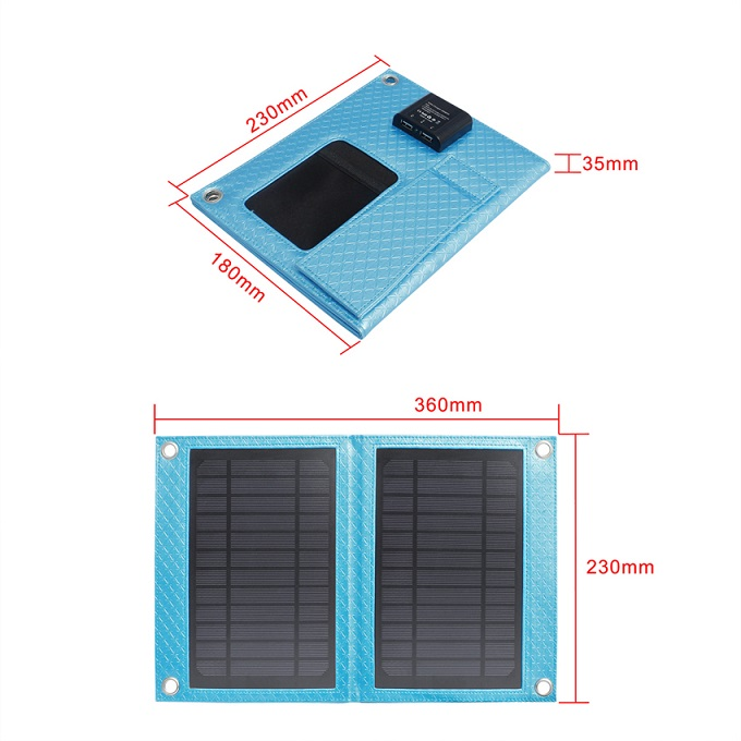Newest Waterproof 7W Solar Cell Phone Charger for Travel