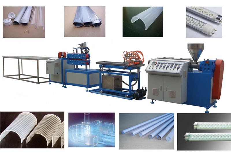 T8 PC PMMA PS LED Lighting Cover Extrusion Machine