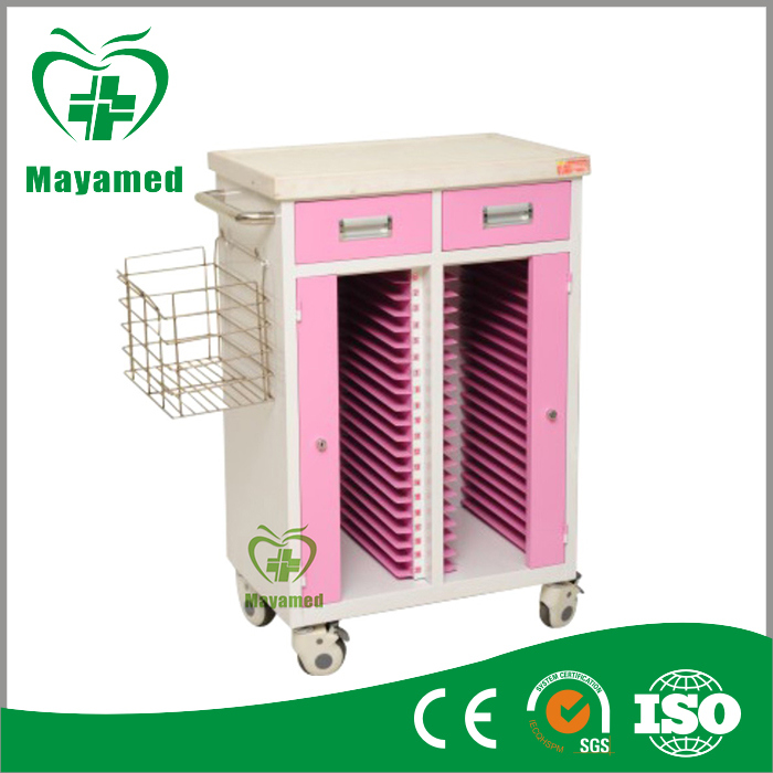 My-R078 Cart for Medical Recoed Holder Medical Record Holder Trolley
